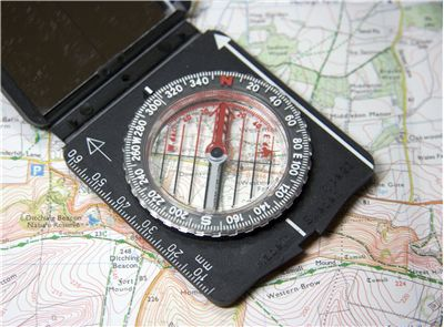 Picture Of Compass And Map Reading