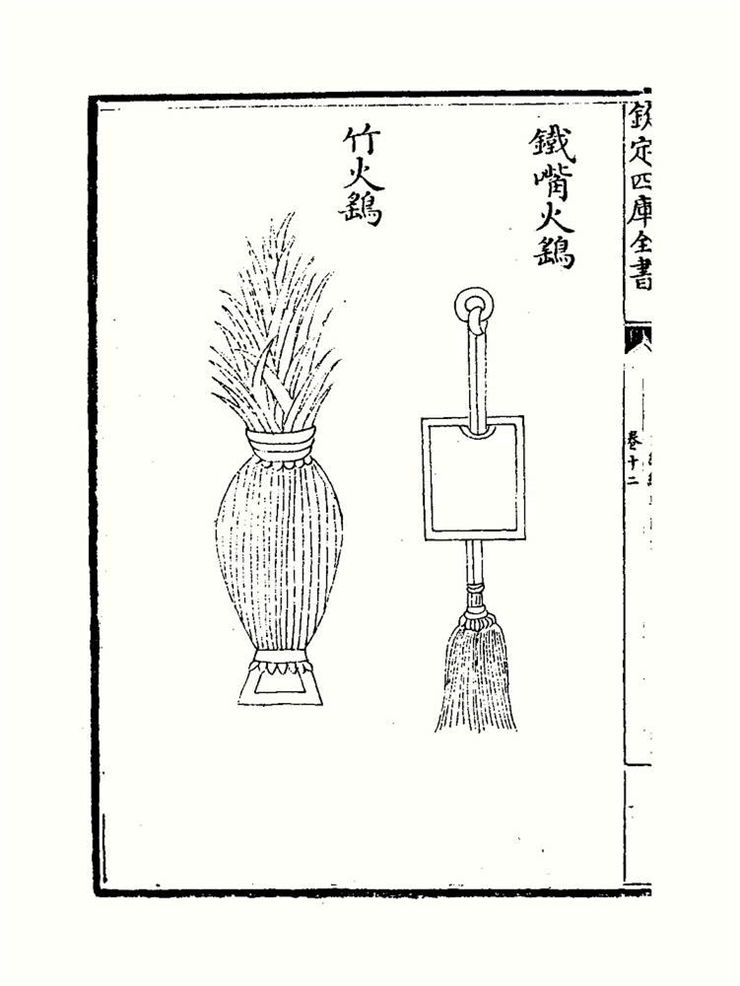 Picture Of Illustration Of Fire Birds In Wujing Zongyao