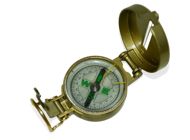 Picture Of Metal Compass